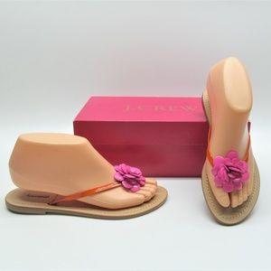 J. Crew Jeweled Posy Posie Thong  Sandal Shoe 6